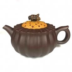 """Исинский чайник """"Пчела опыляет цветок"""" 210 мл, исинская глина"""