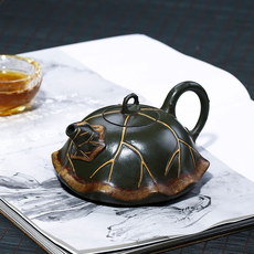 "Авторский чайник ""Старый Лотос"" 175 мл, Глина Цзы ни (紫泥)"